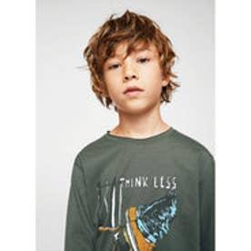 Tシャツ .-- OLLIE (ベージュ-カーキ)