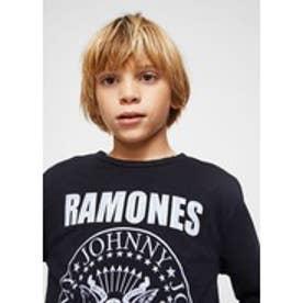Tシャツ .-- RAMONES (グレー)