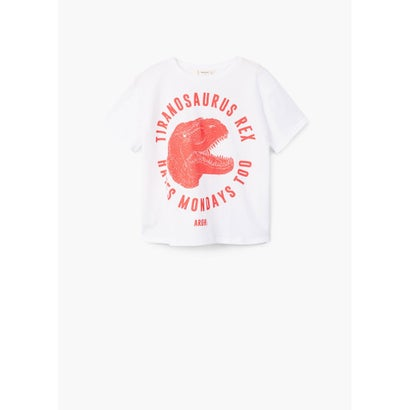 Tシャツ .-- DINO (ホワイト)