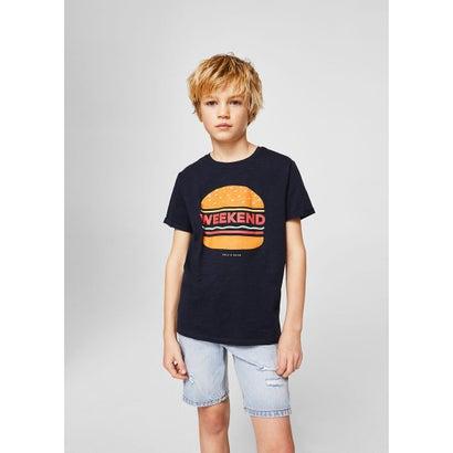 Tシャツ .-- TEO (ネイビーブルー)