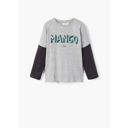 Tシャツ .-- MANGOL (ミディアムグレー)