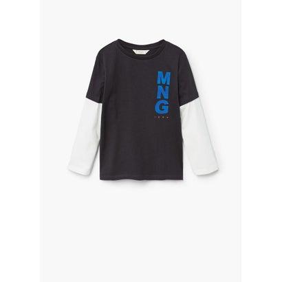 Tシャツ .-- MANGOL (チャコール)
