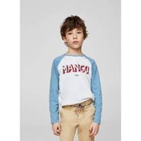 Tシャツ .-- MANGOL (ミディアムブルー)