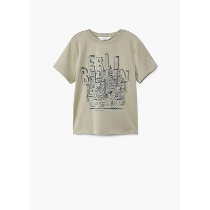 Tシャツ .-- TOUR (ベージュ-カーキ)