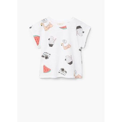 Tシャツ .-- CAKE (ナチュラルホワイト)