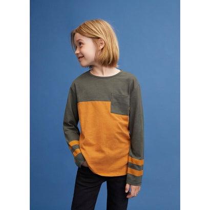 Tシャツ .-- RAYA2 (ベージュ-カーキ)