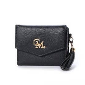 セシルマクビー CECIL McBEE CECIL McBEE ベラ タッセルチャーム付3つ折れ財布 (ブラック)