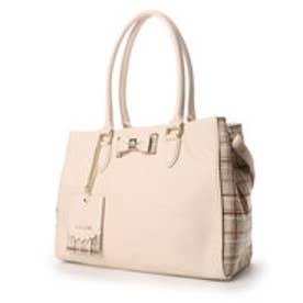 リズリサ LIZ LISA ティアラ チェックツウィード素材使いリボン2WAYA4トートバッグ (ホワイト)