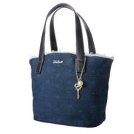 リズリサ LIZ LISA ジーナ 鍵チャーム付き刺繍デニムトートバッグ (ネイビー)