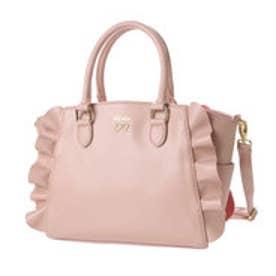 リズリサ LIZ LISA フルーリ フリル使い2WAYミニトートバッグ (ピンク)
