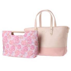 リズリサ LIZ LISA ロペラ バッグインバッグ付トートバッグ(小) (ピンク)