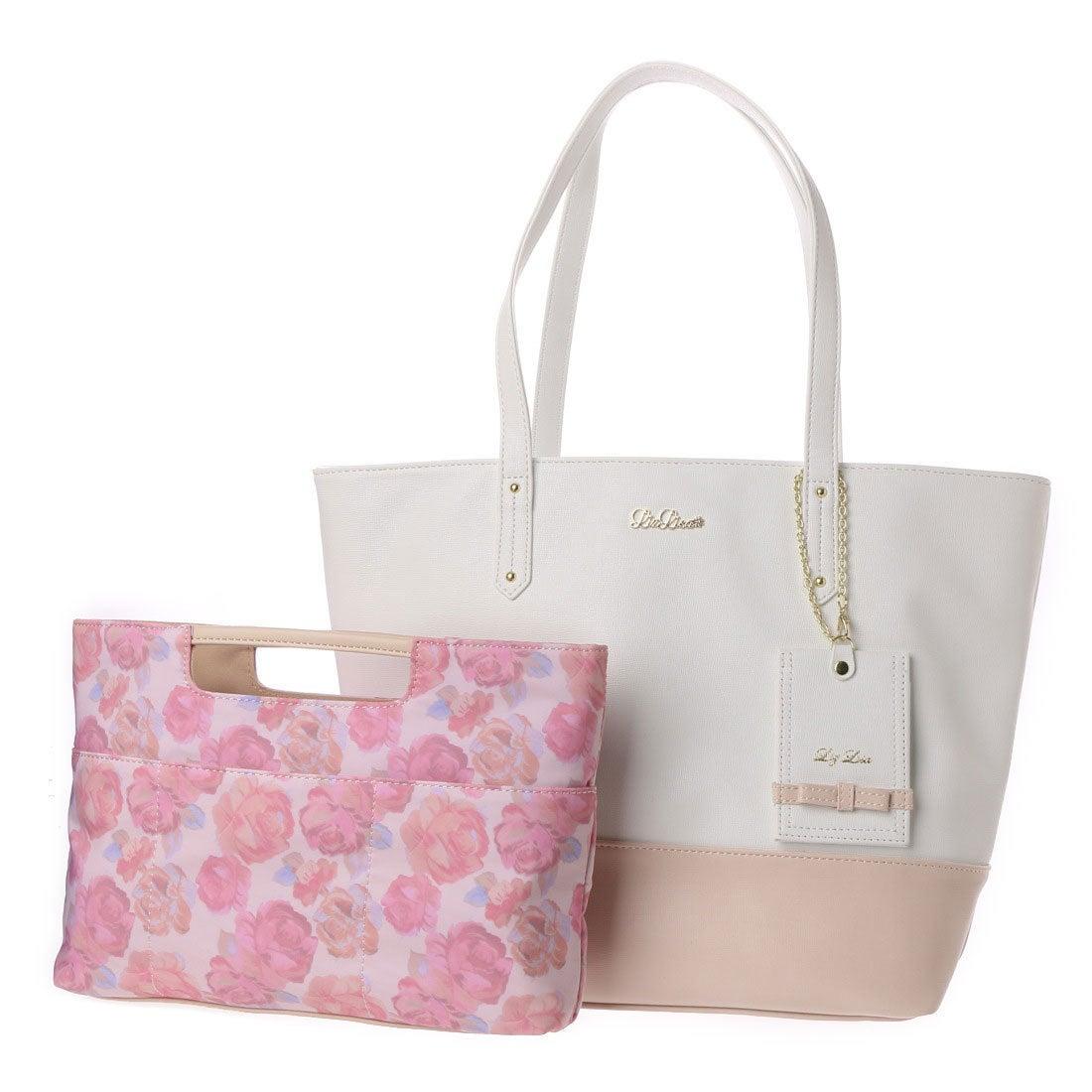 【SALE 50%OFF】リズリサ LIZ LISA ロペラ バッグインバッグ付トートバッグ(大) (ホワイト) レディース