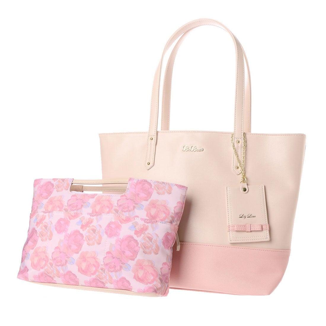 【SALE 50%OFF】リズリサ LIZ LISA ロペラ バッグインバッグ付トートバッグ(大) (ピンク) レディース