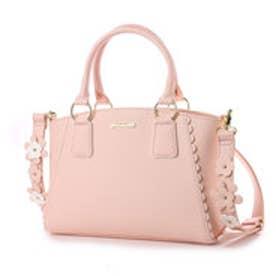 リズリサ LIZ LISA パスティー 花モチーフ使いショルダーストラップ付2WAYバッグ (ピンク)