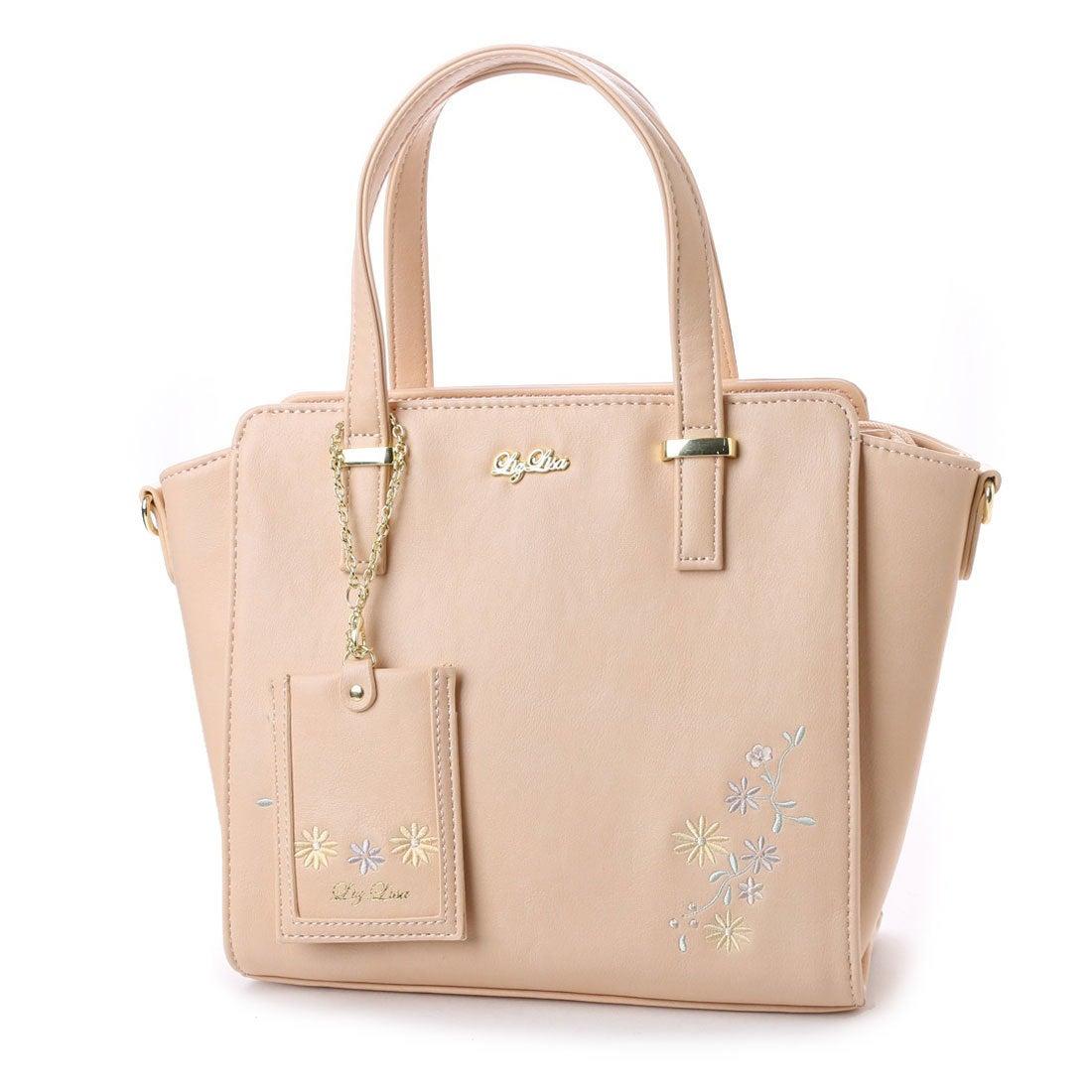 【SALE 50%OFF】リズリサ LIZ LISA ジャスミン お花刺繍2WAYバッグ (ピンク) レディース