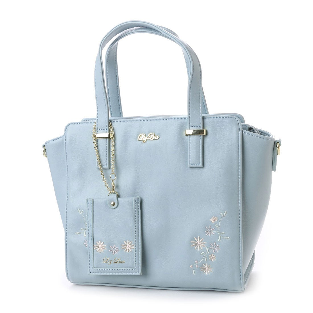 【SALE 50%OFF】リズリサ LIZ LISA ジャスミン お花刺繍2WAYバッグ (ブルー) レディース