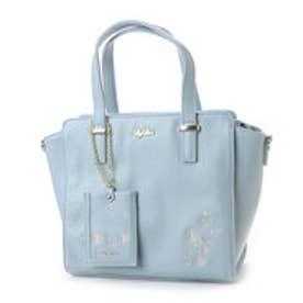 リズリサ LIZ LISA ジャスミン お花刺繍2WAYバッグ (ブルー)