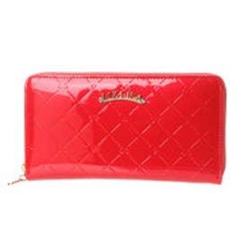 リズリサ LIZ LISA エピナ リボン&ハート型押しエナメルラウンド長財布 (レッド)