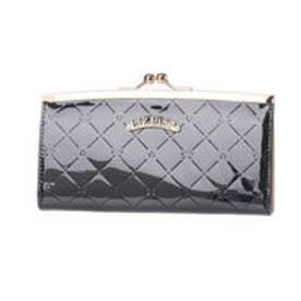 リズリサ LIZ LISA エピナ リボン&ハート型押しエナメルがま口長財布 (ネイビー)