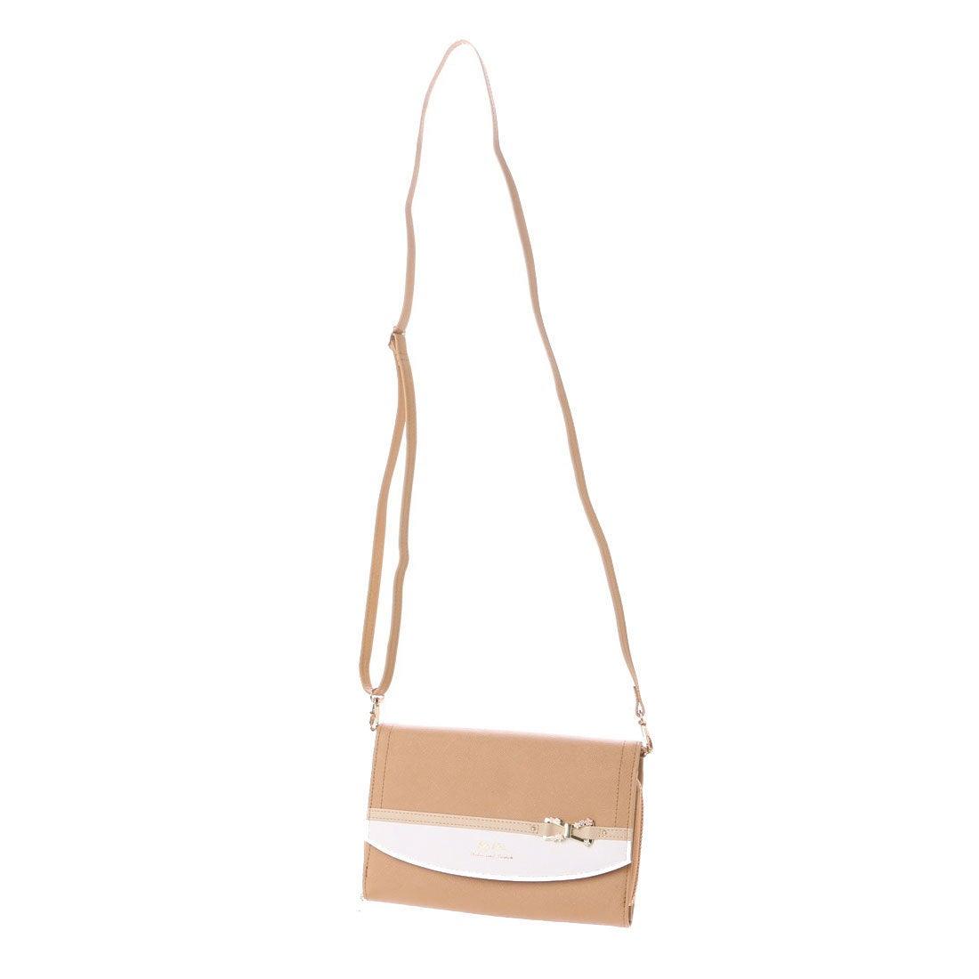 【SALE 50%OFF】リズリサ LIZ LISA リズリサ LIZ LISA ティー リボン金具使い配色お財布ポシェット (ブラウン) レディース