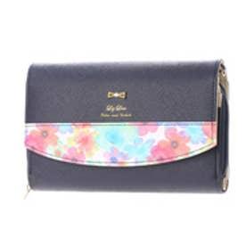 リズリサ LIZ LISA キャンデー 部分花柄お財布ポシェット (ネイビー)