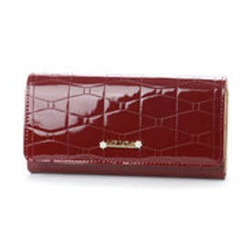 リズリサ LIZ LISA アイビー パールチャーム付きエナメル長財布 (レッド)