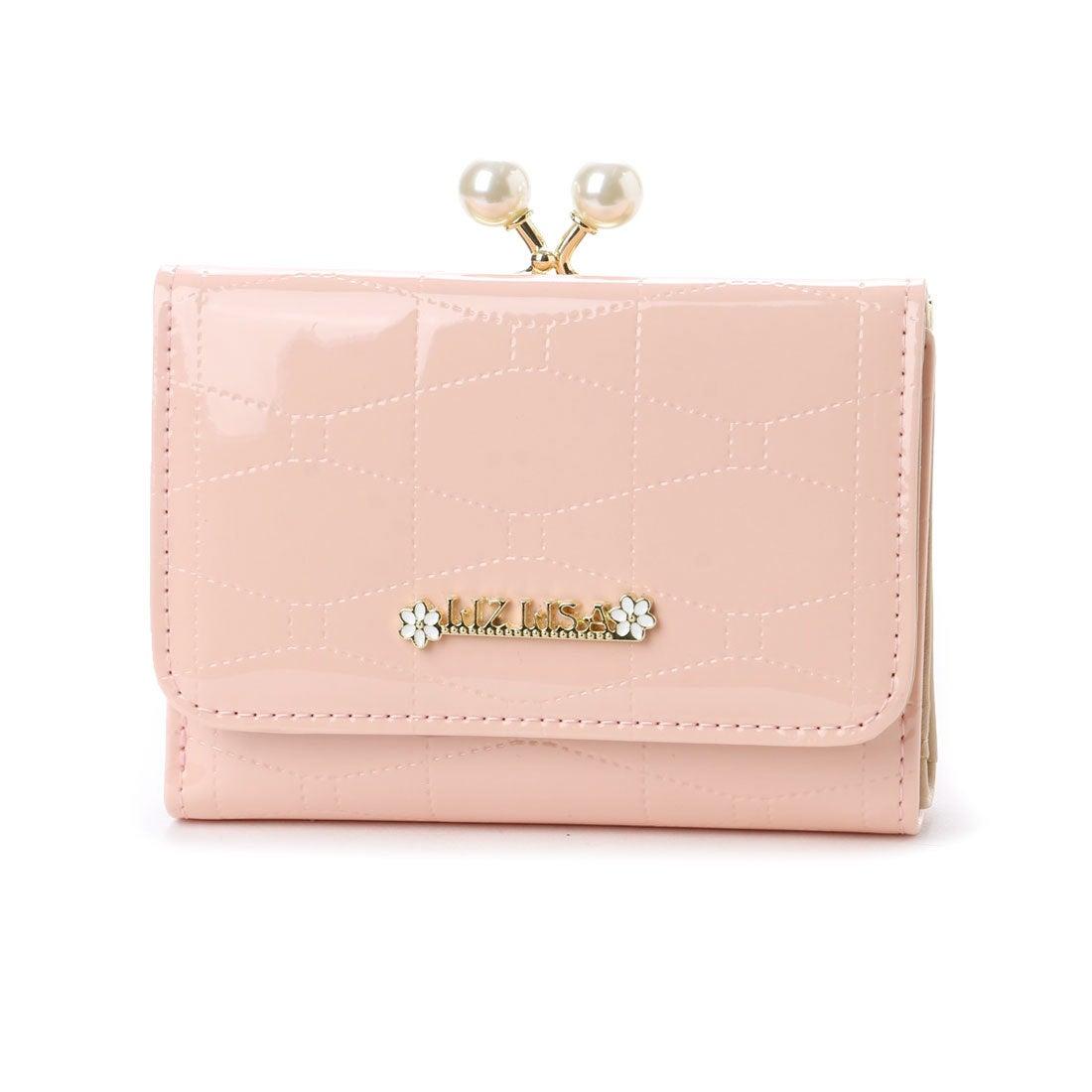a26f19860737 リズリサ LIZ LISA アイビー エナメルビッグパールがま口折り財布 (ピンク) -靴&ファッション通販 ロコンド〜自宅で試着、気軽に返品