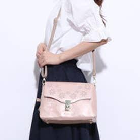 ミッシュマッシュ MISCH MASCH メゾン エナメル花型抜きショルダーバッグ (ピンク)