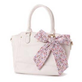 プリムヴェールリズリサ Primevere LIZ LISA シャーベット お花リボンチャーム付2WAYバッグ (ホワイト)