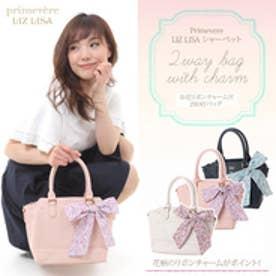 プリムヴェールリズリサ Primevere LIZ LISA シャーベット お花リボンチャーム付2WAYバッグ (ピンク)