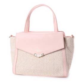 プリムヴェールリズリサ Primevere LIZ LISA マーニー 合皮×PPメッシュ2WAYバッグ (ピンク)