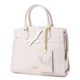 プリムヴェールリズリサ Primevere LIZ LISA ジュエル リボン付2WAYバッグ (ホワイト)