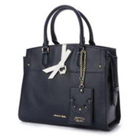 プリムヴェールリズリサ Primevere LIZ LISA ジュエル リボン付2WAYバッグ (ネイビー)