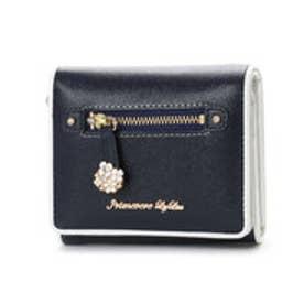 プリムヴェールリズリサ Primevere LIZ LISA エフィル お花の引手付折財布 (ネイビー)