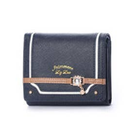 プリムヴェールリズリサ Primevere LIZ LISA カカオ ビジュー金具付2つ折り財布 (ネイビー)