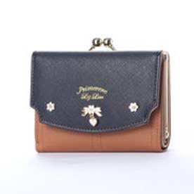 プリムヴェールリズリサ Primevere LIZ LISA ジンジャー リボンブローチ付き配色がま口折財布 (他)