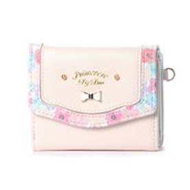 プリムヴェールリズリサ Primevere LIZ LISA メイプル 花柄フレーム3つ折り財布 (ホワイト)