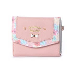 プリムヴェールリズリサ Primevere LIZ LISA メイプル 花柄フレーム3つ折り財布 (ピンク)