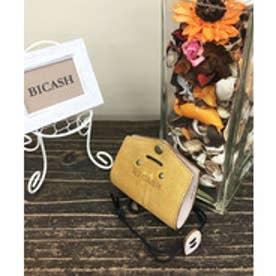 ビカーシ BICASH スエードコインケース (MUSTARD)