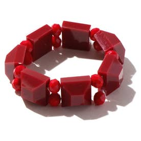 カラービーズブレスレット RED1