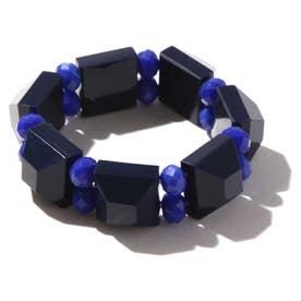 カラービーズブレスレット BLUE+MONTANA1