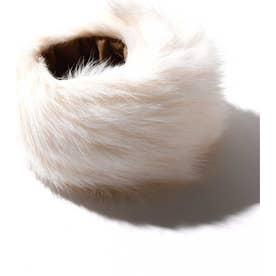 ラビットファーブレスレット ホワイト1