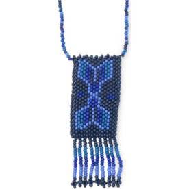ビーズタッセルモチーフネックレス BLUE1
