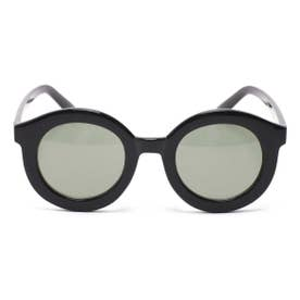 サークルミラーサングラス ブラック1