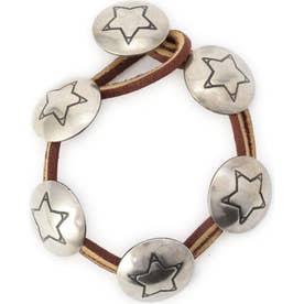 メタルパーツブレスレット BROWN STAR1