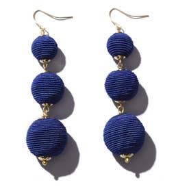 ボールピアス ブルー1