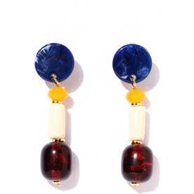 デザインイヤリング ブルー1