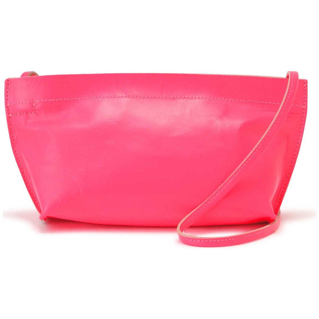 レザーショルダーバッグ ピンク