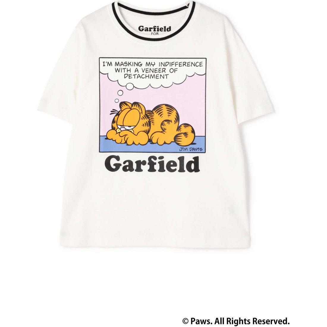 GarfieldTシャツWHITELT