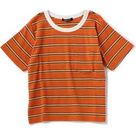 マルチボーダーTシャツ ORANGE MID1